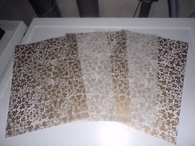 5 X Vellum Sheets In Different Styles   29X21 Cm New New (Vs103)