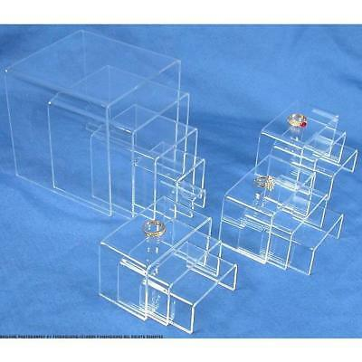 14 Piece Clear Acrylic Riser Jewelry Display Set