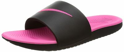 f14a9f6528e4d NIKE 819353-001  KAWA GS Slide Black Vivid Pink Kids Sandals ...