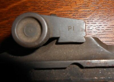 WWII M1 CARBINE STAMPED ADJUSTABLE REAR SIGHT