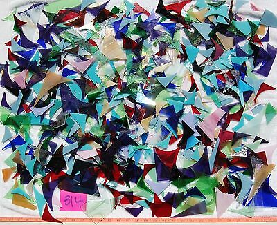 12+Pounds STAINED GLASS SCRAP PIECES Mixed Color Texture MOSAIC ART CRAFT 314