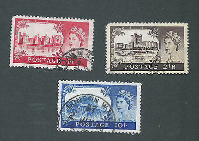 Great Britain Scotts # 371, 372, & 373,  used
