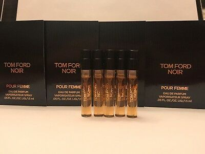 6ad638c5c8d739 5X TOM FORD Noir Pour Femme EDP Perfume Spray Sample .05 oz. 1.5ml ...