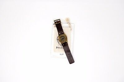 Wrist Brass Compass & Sundial-Watch With Leather Strap Follow Your Inner Compass