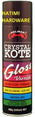 CLEAR COATING GLOSS VARNISH HELMAR CRYSTAL KOTE 400g PERMANENT ACID FREE COATING