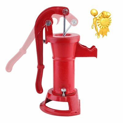 FUNCTIONAL Hand Water Well Pump Pitcher Cast Iron Press Suction Outdoor Yard SE