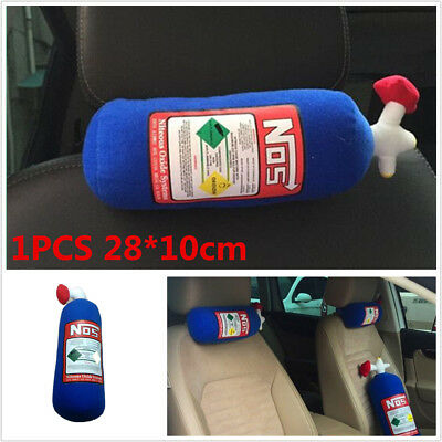 1PC 28x10cm NOS Style Bottle Tank Pillow Car Seat Headrest Neck Pillow Universal