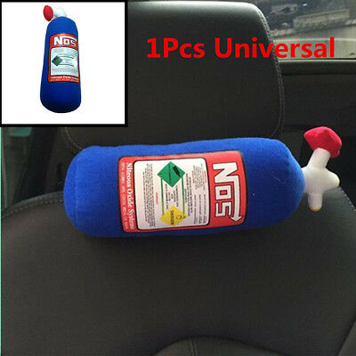 Universal 1Pcs Car SUV NOS Bottle Tank Style Seat Headrest Neck Pillow 28x10cm