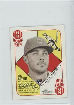 2015 Topps Heritage '51 Mini Red Back #25 Kris Bryant Chicago Cubs Rookie Card