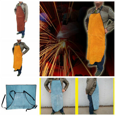 Split Leather Welding Apron Soldering Protective Carpenter Blacksmith Clothing