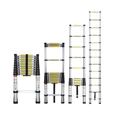 Stanz (TM) Portable 12.5 Feet Aluminum Telescoping Extension Ladder 12 Steps