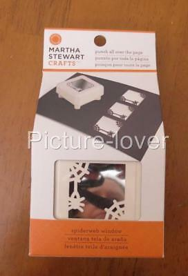 Martha Stewart SPIDERWEB WINDOW Halloween Creepy All Over The Page Paper Punch