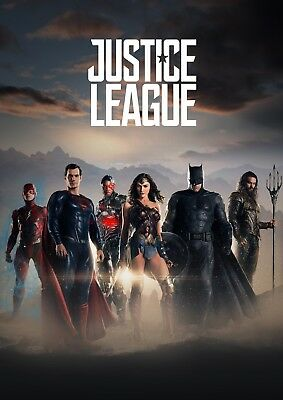 Justice League Unite 2017 Movie Glossy Poster Print A4 A3 Wonder Woman