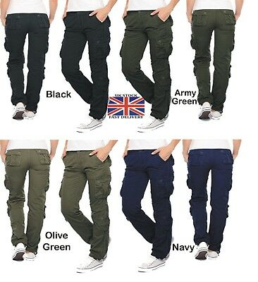 Womens Military Combat Trouser Ladies Cargo Pants & Girl Army Trousers UK 6-16