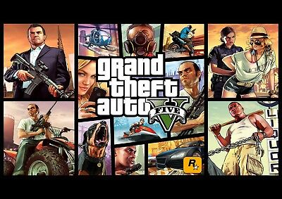 Gta V Grand Theft Auto 5 High Quality Glossy Poster Print A4 A3 Ps4 Xbox One