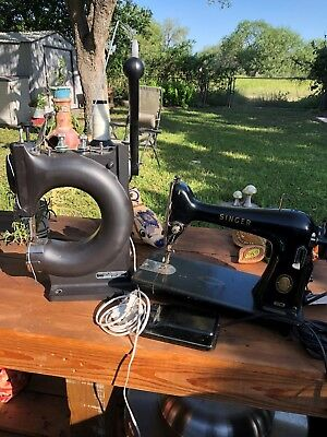 LOT Tippmann Boss Leather Sewing Machine And Singer 66-