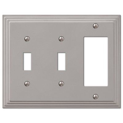 Step Design Double Toggle and GFI Decora Rocker Combination Wall Switch Plate Ou