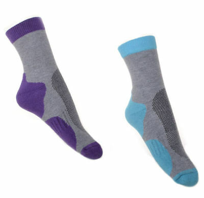 2 Pairs Ladies Thick Cotton Walking socks Hiking  SMALL