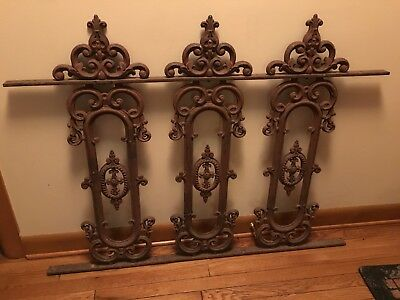 Vintage Cast Iron Fence Ornate Gate From A Cemetery
