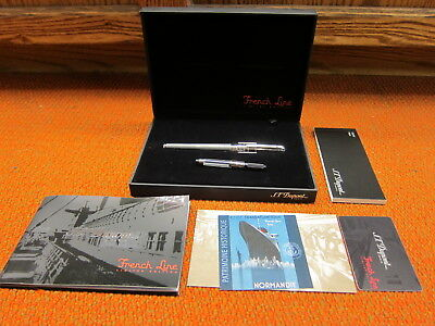 S.T Dupont French Line Limited Edition Fountain Pen Medium  18K / 750 Gold Nib