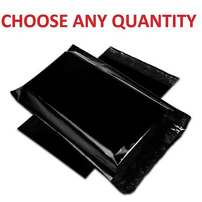 "6x9 BLACK POLY MAILERS Shipping Envelopes Self Sealing Mailing Bags 6"" x 9"""