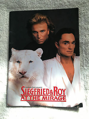 Siegfried and Roy at the Mirage 1995 Program Book White Tigers Las Vegas Show