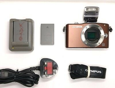 Excellent Olympus PEN E-PM1 12.3MP Digital Camera - Brown (Body only)