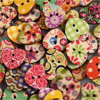 100Pcs/lot 17mm Wooden 2 Holes Round Wood Sewing Buttons DIY Craft Scrapbooking