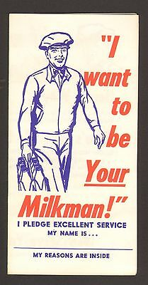 Undated Brochure Rutters Dairy York PA I want to be your Milkman Pledge Schedule