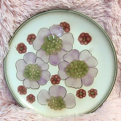 """DENBY Gypsy Floral Chop Plate / Serving Platter Stoneware Pottery 12"""" Round"""
