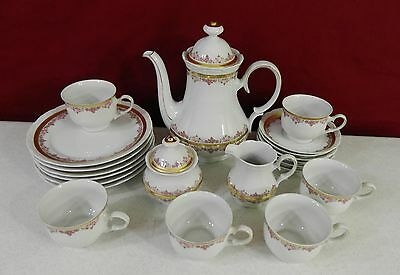 21 Piece Mitterteich Bavaria Coffee Tea Pot Desert Serving Set