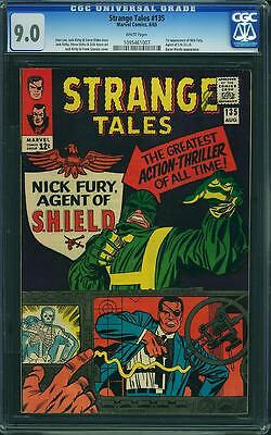 Strange Tales 135 CGC 9.0 W Pages- 1st Nick Fury, Agent of SHIELD / S.H.I.E.L.D.