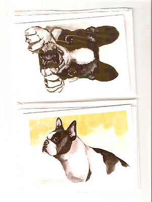 French Bulldog Set of 2 Notecards Note Cards Set A