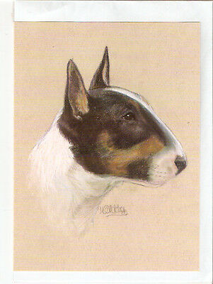 English Bull Terrier Notecard Note Card Tricolour by MC Fletcher LAST ONE