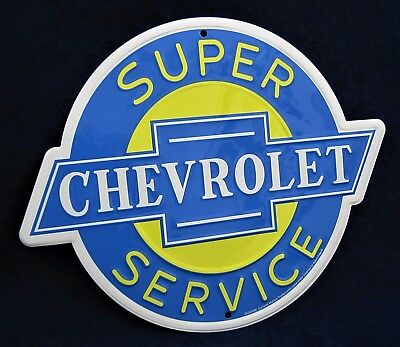 CHEVROLET -*US MADE* Die-Cut Embossed Sign - Man Cave Garage Shop Bar Wall Decor