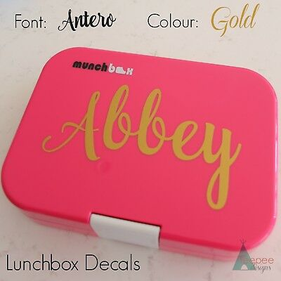 Personalised Lunchbox Name Sticker - Custom Lunch Box Label Decal