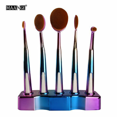 New Hot Professional 5pc Oval Brush Head Toothbrush Type Makeup Brush Set  C0347