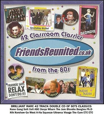 Best Greatest Hits 80's 2CD Soft Cell The Cure Wham Ultravox Go West The Clash