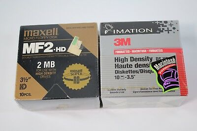 20 new sealed 2x 10pk MF2-HD Mac PC Formatted High Density Maxell Imation