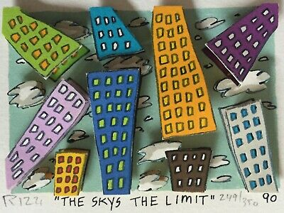 "JAMES RIZZI 3D """"IT AIN'T EASY GETTING RICH"", 1990, handsigniert"
