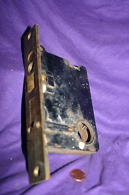 Antique Vintage Corbin Cylinder Entry Mortise Door Lock Polished Brass Front