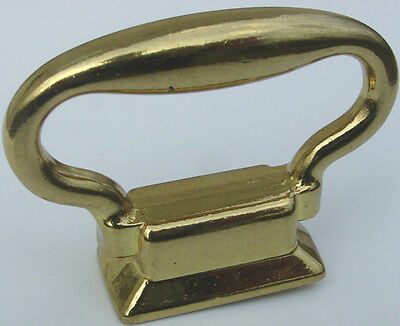 """Solid Brass Carriage Clock Handle Size 2"""" Wide x 1-9/16"""" High PACKAGE of 4 PCS"""