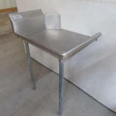 "Advance Tabco 24"" Stainless Steel Left Side Clean Dish Table Dtc-S60-24L 23 30"