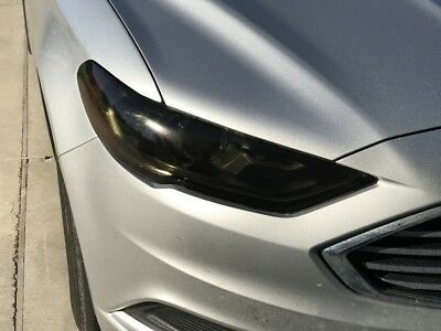 2017 2018 Ford Fusion Smoke Head Light Precut Tint Cover Smoked Overlays