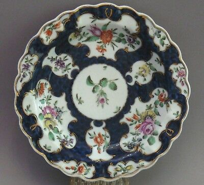 Antique Worcester First period, Dr Wall, Scale Blue Plate,18th century c.1765