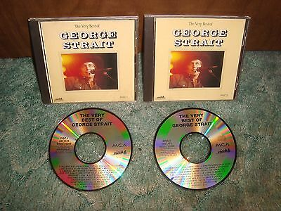 George Strait Very Best Of 2 Cd Set + Mint + Greatest Country Hits 20 Tracks