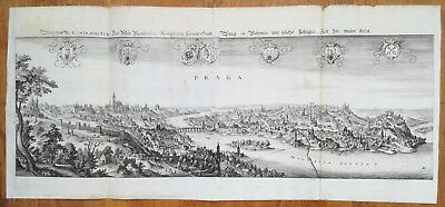 Merian Large Folding Panorama of Prague Prag Czech Rep. 1680