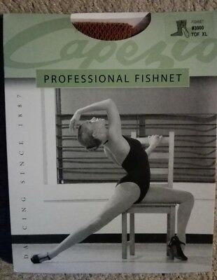 New Professional Capezio fishnet stockings, Toffee size X-Large