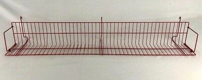 """Lot(10) CD DVD Media Shelves For Gridwall Retail Display Red 48"""" USED"""