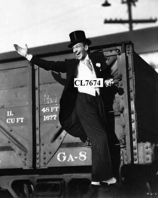 Fred Astaire Hanging from Cargo Train in the Movie 'Swing Time' Photo